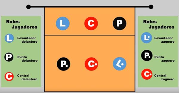 voleibol posiciones